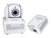 Diamond PlugnView Remote Home Monitoring Internet Night Vision Security Camera kit