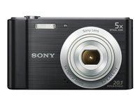Sony Camara W800B Negro 20.1mp/HD/5x Optico/10x dig./LCD 2.7