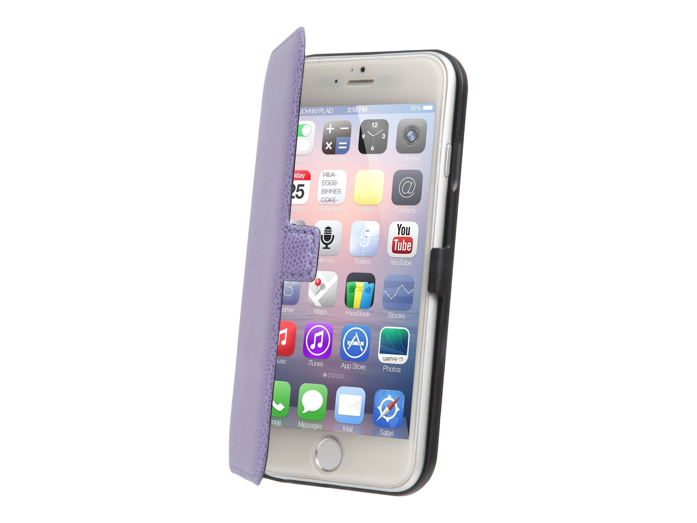 Muvit Made in Paris Slim Folio - Protection à rabat pour iPhone 6 - violet