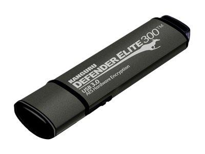 Kanguru Defender Elite300 PRO Secure FIPS Hardware Encrypted with Physical Write Protect Switch USB