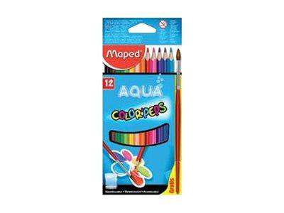 Maped Color'Peps Aqua - Crayons de couleurs aquarellables