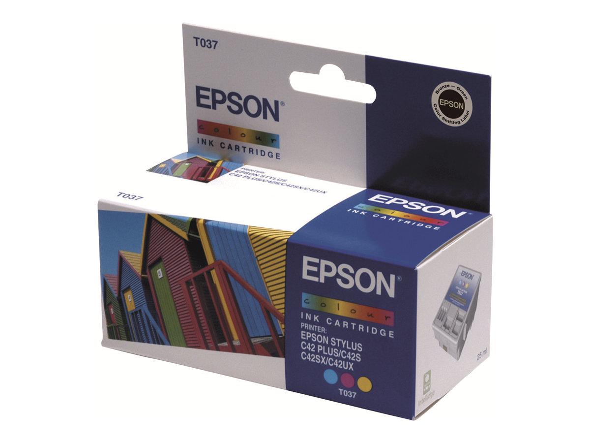 Epson T037 - couleur (cyan, magenta, jaune) - originale - cartouche d'encre