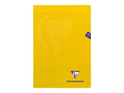 Clairefontaine MIMESYS - Cahier - A4 - 21 x 29,7 cm - 48 feuilles / 96 pages - Seyès - jaune