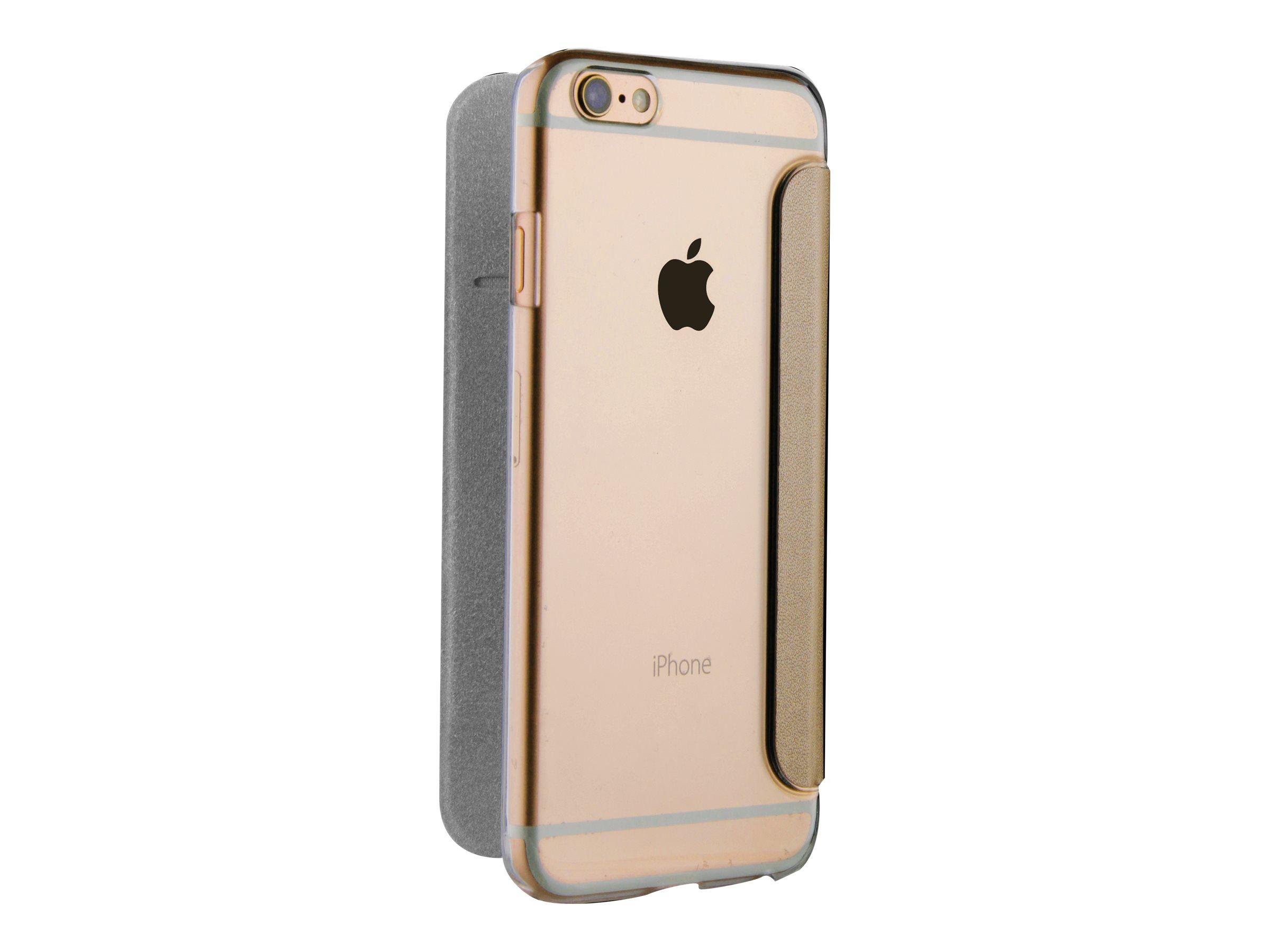 Muvit Folio - Protection à rabat pour iPhone 7 Plus - or