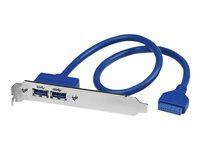 STARTECH - CABLE StarTech.com 2 Port USB 3.0 A Female Slot Plate AdapterUSB3SPLATE