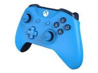 Microsoft Xbox Wireless Controller - Gamepad - wireless - Bluetooth - solid blue - for PC, Microsoft Xbox One, Microsoft Xbox One S, Microsoft Xbox One X