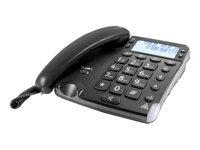 DORO Magna 4000 Telefon med ledning med opkalds-ID/opkald venter sort