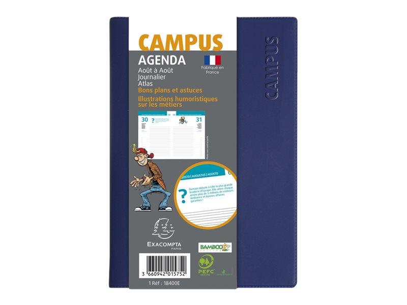 Exacompta Campus - Agenda - 1 jour par page - 120 x 170 mm - campus jaquette - disponible dans différentes couleurs