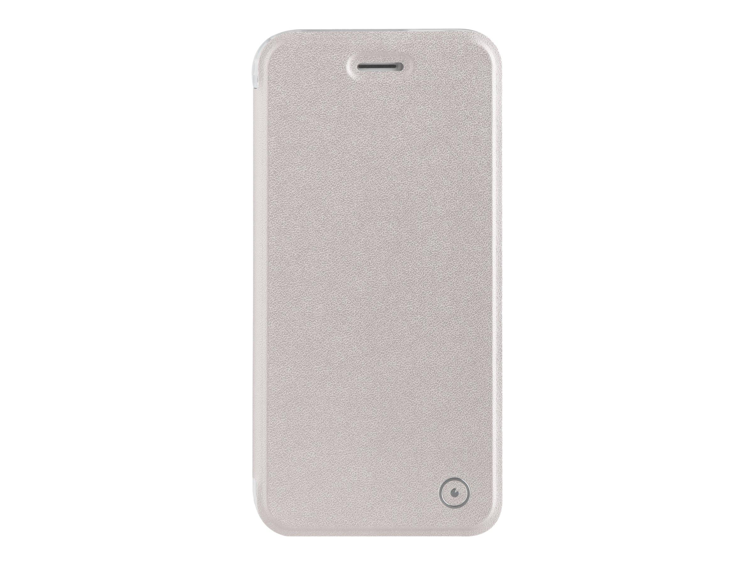 Muvit Folio Case - Protection à rabat pour iPhone 7 - argenté