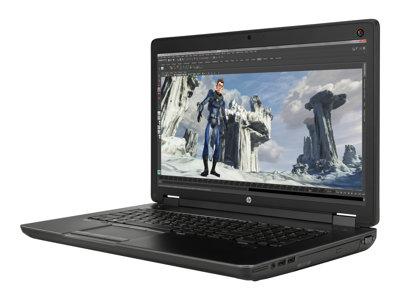 """HP ZBook 17 G2 Mobile Workstation - Core i7 4810MQ / 2.8 GHz - Win 7 Pro 64-bit (includes Win 8.1 Pro License) - 8 GB RAM - 1 TB HDD - DVD SuperMulti - 17.3"""" 1920 x 1080 (Full HD) - Quadro K2200M - Wi-Fi - graphite, hematite"""