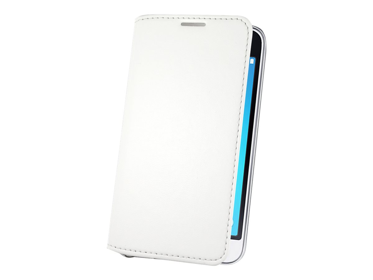 Muvit Made in Paris Crystal Folio - Protection à rabat pour Samsung Galaxy J3 - blanc