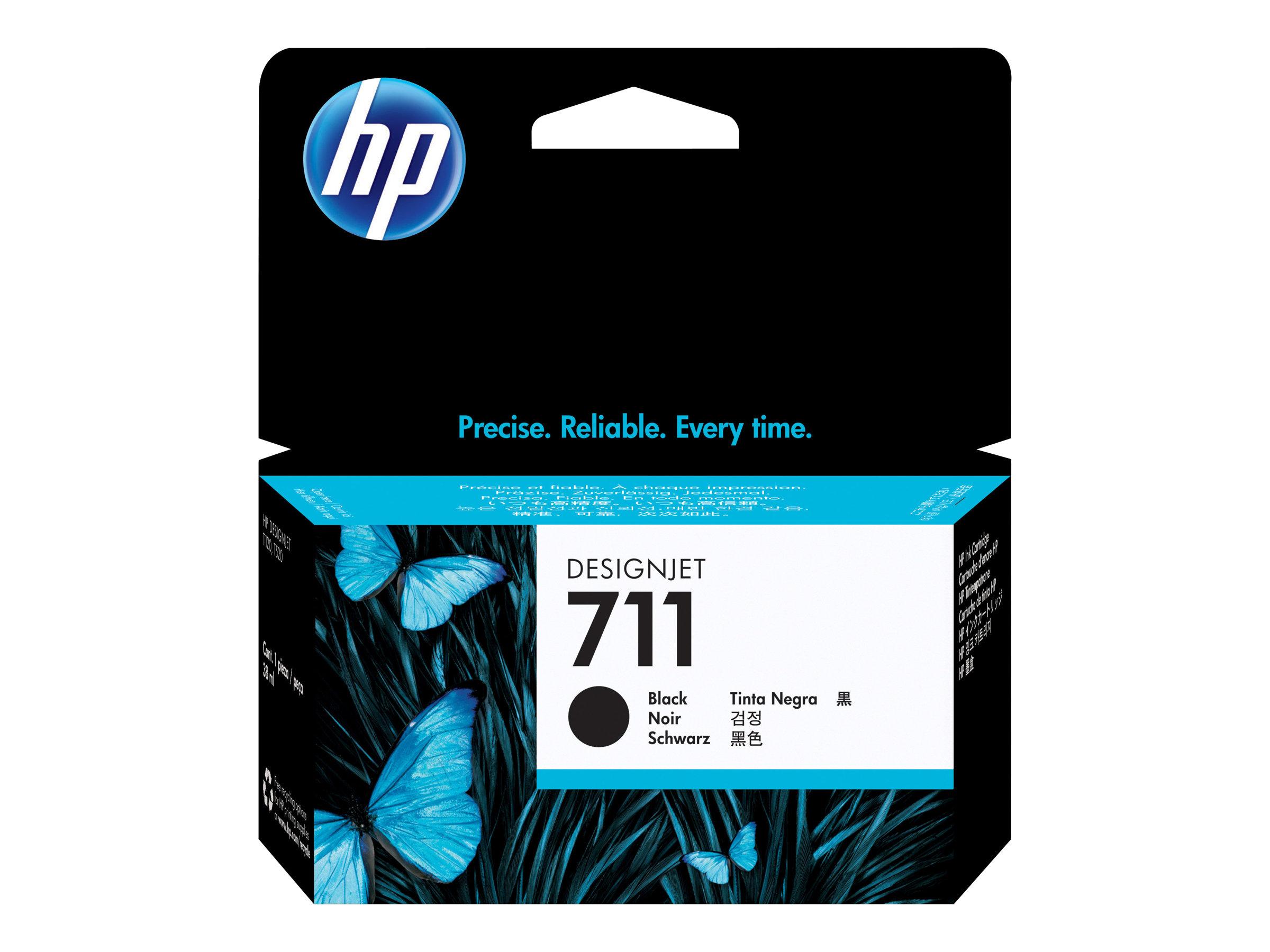 HP 711 - 38 ml - noir - originale - cartouche d'encre