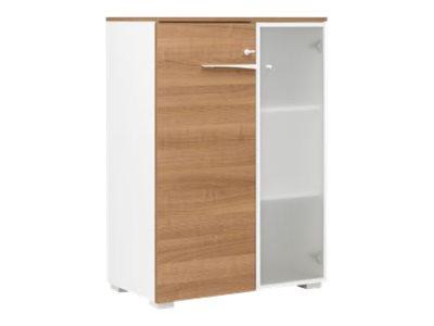 Gautier office XENON - Caisson - Rangement mi- hauteur - 3 étagères - 2 portes - différents coloris