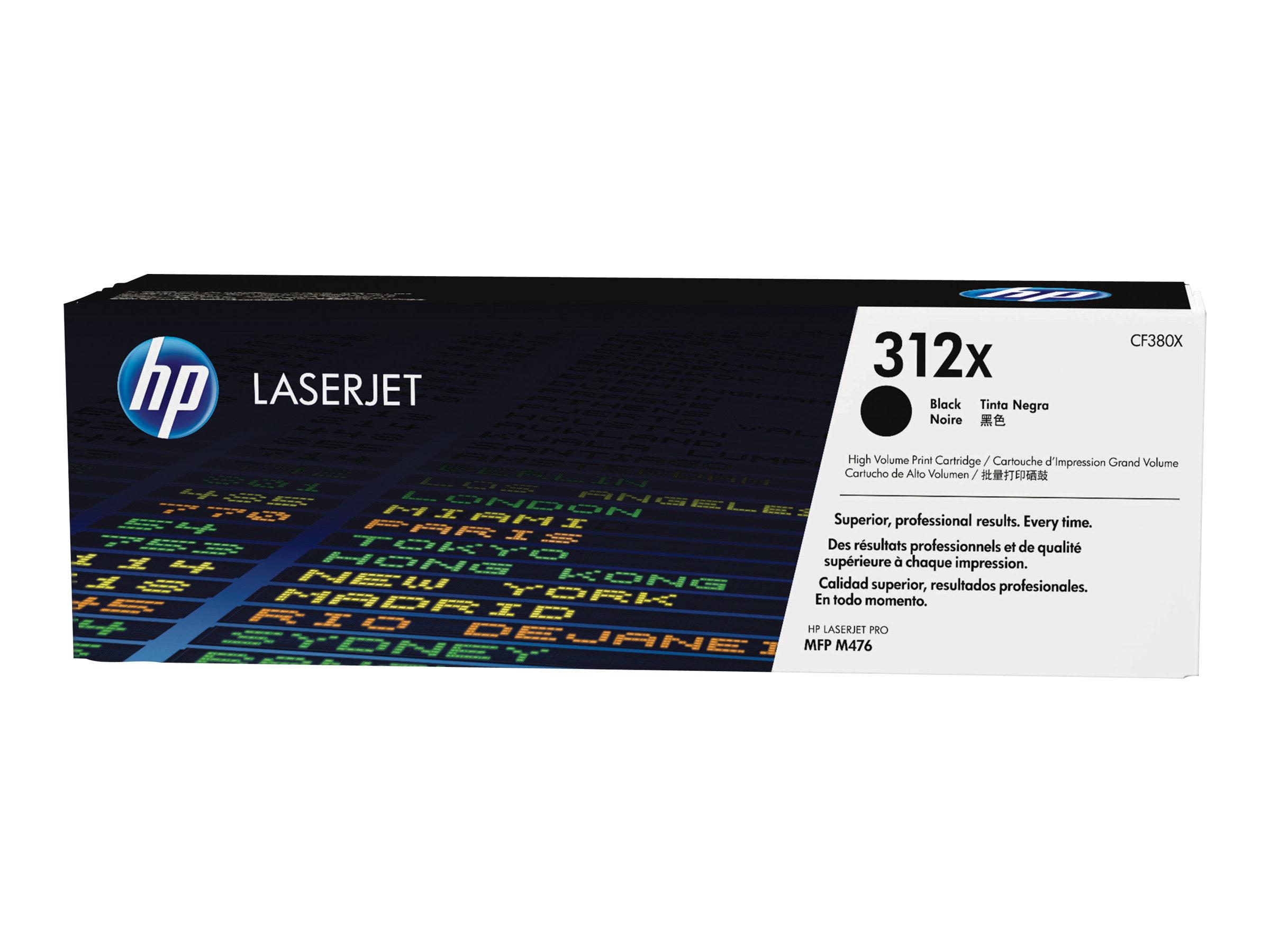 HP 312X - à rendement élevé - noir - originale - LaserJet - cartouche de toner (CF380X)