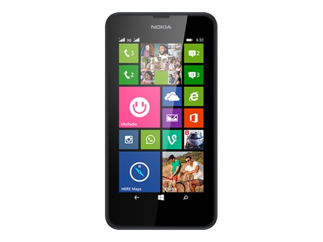 Image of Nokia Lumia 630 - black - 3G 8 GB - GSM - Windows smartphone