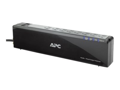 APC Premium Audio/Video Surge Protector - Surge protector - AC 120 V - output connectors: 8 - black