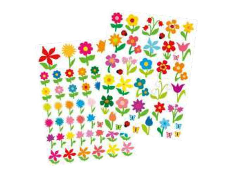 Oberthur - 87 Gomettes - fleurs