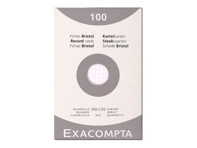 Exacompta 100 fiches bristol petits carreaux diff rents coloris et dimensions disponibles - Bureau vallee thionville ...