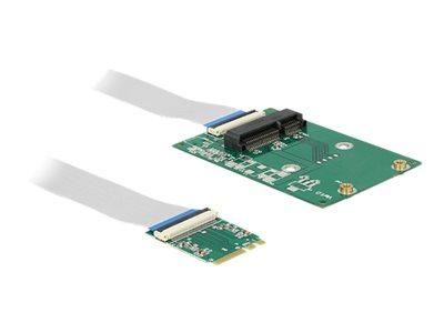 DeLOCK Converter M.2 Key A+E male > 1 x Mini PCIe Slot - Extender interní sběrnice