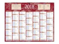 CBG rouge 215 - Calendrier 2017 - 7 mois par face - 210 x 265 mm