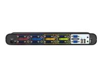 Belkin OmniView SOHO Series 4 Port KVM Switch with Audio - commutateur écran-clavier-souris/audio/USB - 4 ports - Ordinateur de bureau