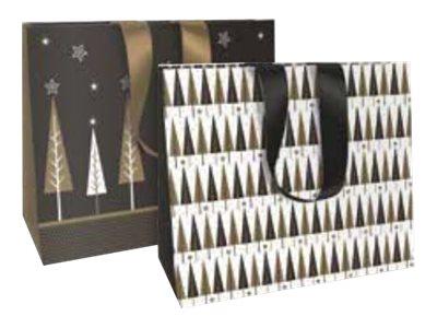 Clairefontaine Christmas - Sac cadeau - 35 cm x 10 cm x 27.5 cm - chic sapins