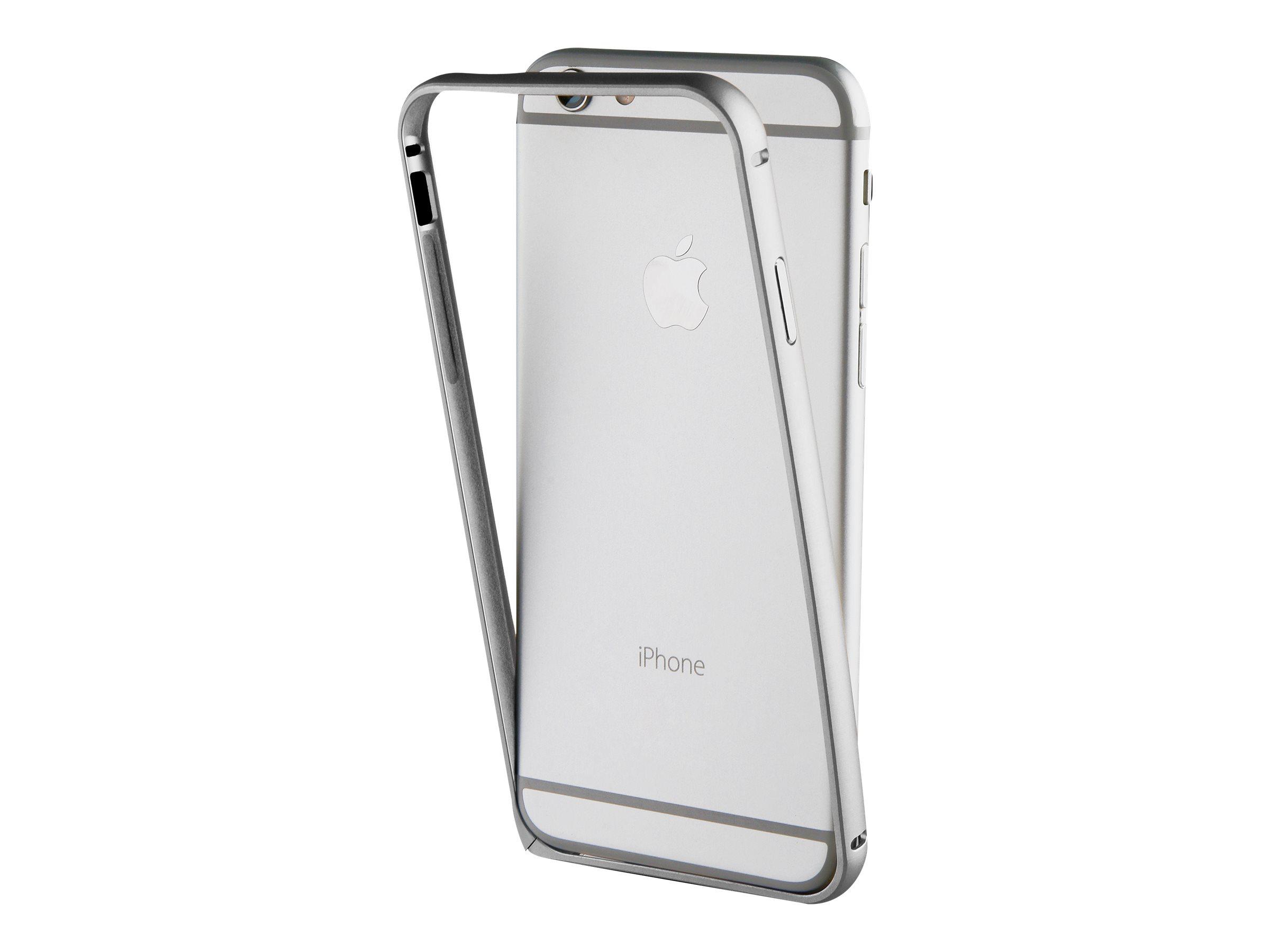 Muvit - coque pare-chocs pour iPhone 7 - argenté