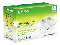 TP-LINK TL-PA4010PKIT AV500 Powerline Adapter with AC Pass Through Starter Kit