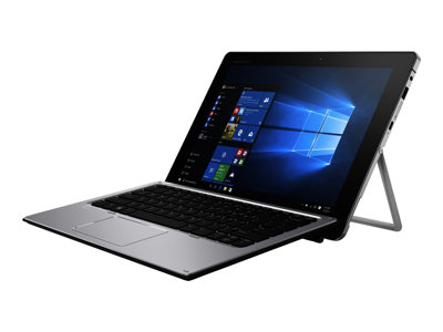 "HP Elite x2 1012 G1 - Tablet - with detachable keyboard - Core m5 6Y54 / 1.1 GHz - Win 10 Pro 64-bit - 8 GB RAM - 256 GB SSD - 12"" IPS touchscreen 1920 x 1280 - HD Graphics 515 - Wi-Fi, Bluetooth - 4G - with HP Elite x2 1012 G1 Travel Keyboard, HP Active Pen"