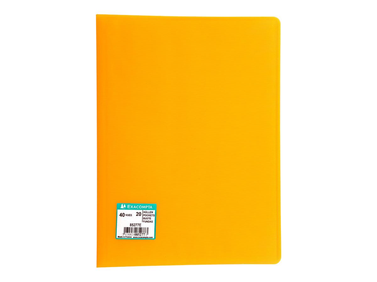 Exacompta linicolor porte vues 40 vues a4 for Porte vues 60 vues jaune