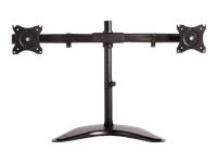 NewStar NeoMounts Tilt/Turn/Rotate Dual Desk Mount (stand, clamp & grommet) NM-D335DBLACK - montage sur bureau