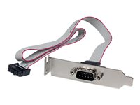STARTECH - CABLE StarTech.com 1 Port 16in DB9 Serial Port Bracket to 10 Pin HeaderPLATE9M16LP