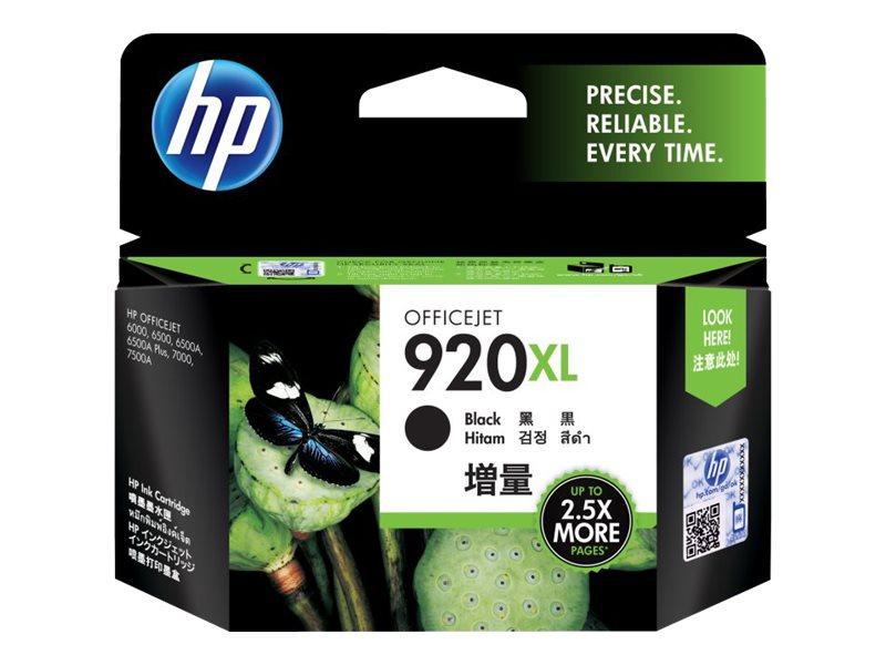 HP 920XL - à rendement élevé - noir - originale - cartouche d'encre