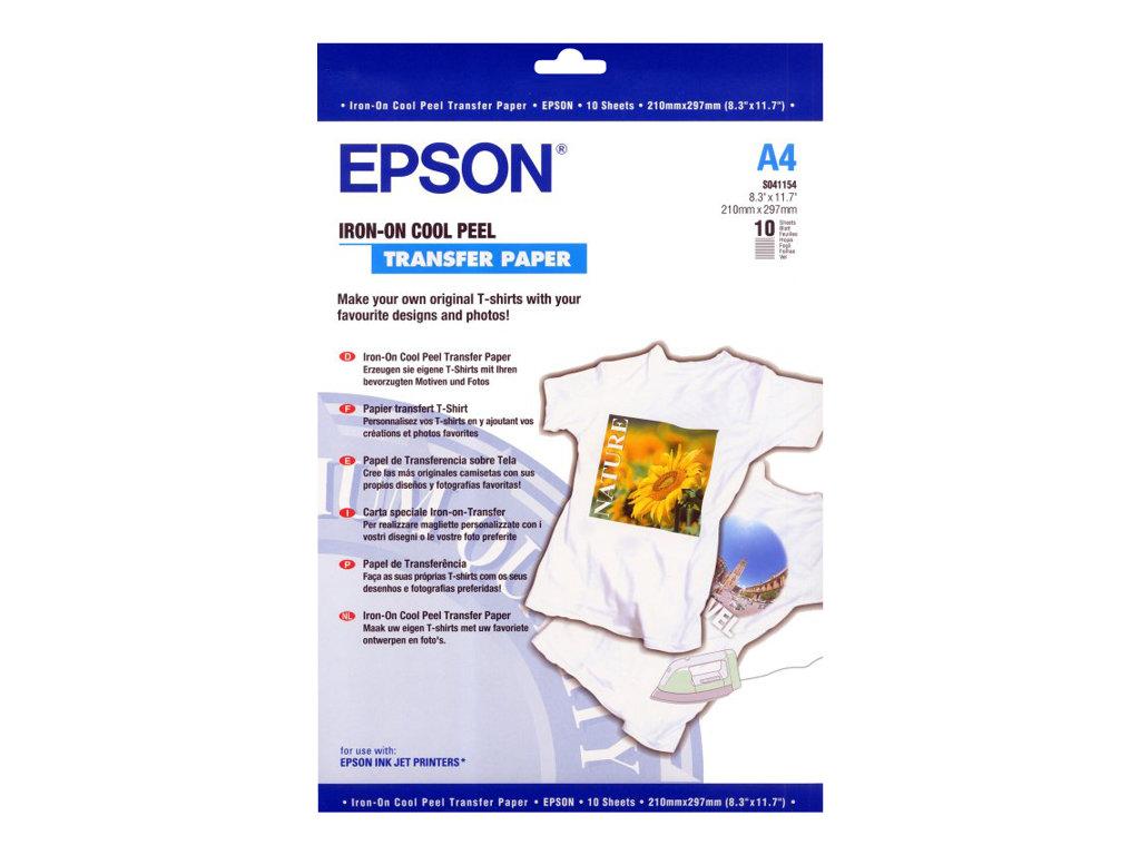 Epson Cool Peel T-Shirt - papier transferts sur T-shirt - 10 unités