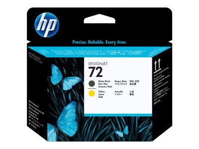 HP 72 - Žlutá, matná čerň - tisková hlava - pro DesignJet SD Pro MFP, T1100, T1120, T1200, T1300, T2300, T610, T620, T770, T790, T795