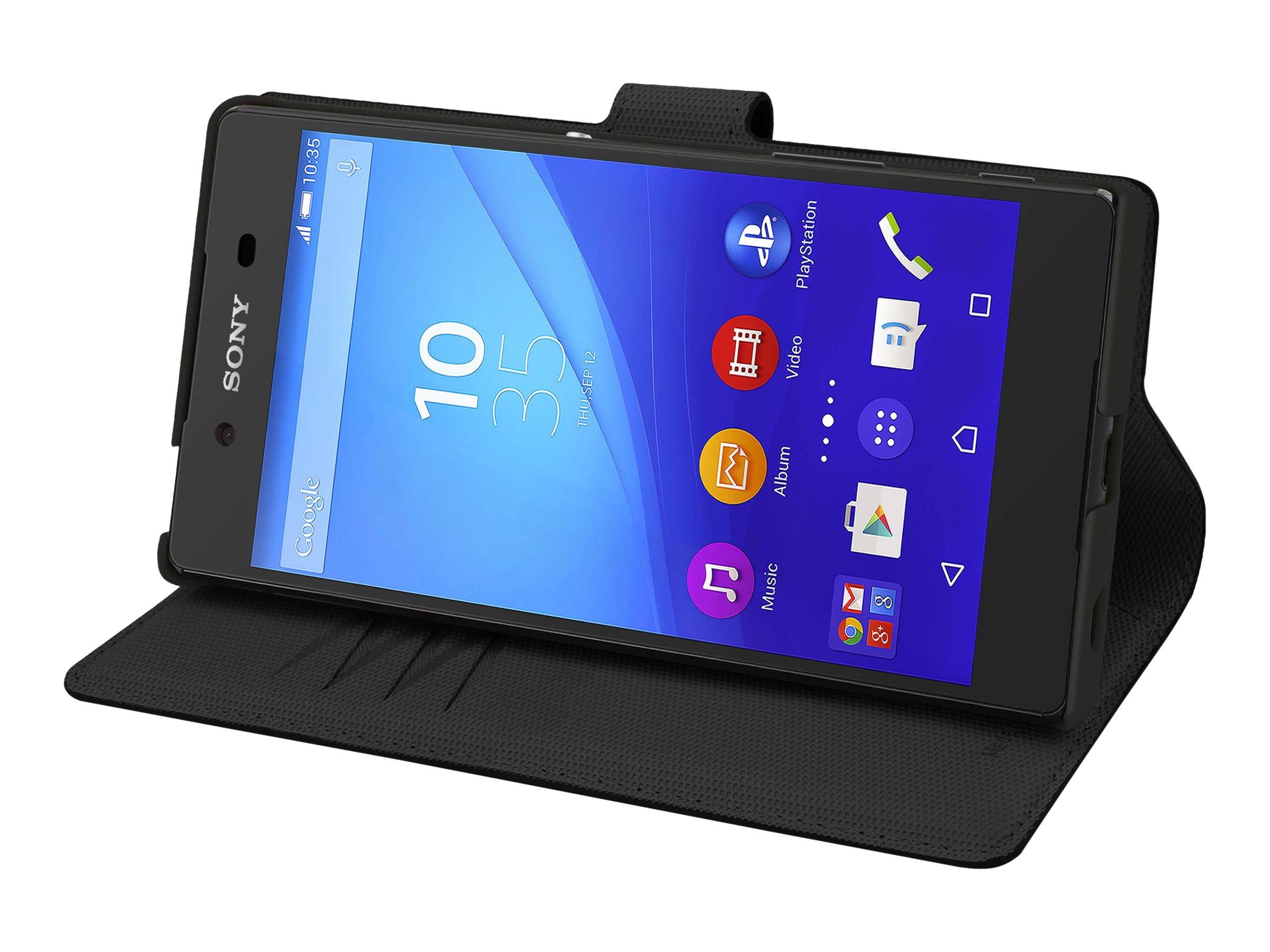 Muvit MFX Wallet Folio - Protection à rabat pour Sony XPERIA Z5 Premium - noir