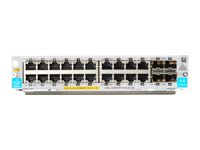 HPE - Expansion module - Gigabit Ethernet (PoE+) x 20 + Gigabit Ethernet / 10 Gigabit SFP+ x 4 - for HPE Aruba 5406R, 5406R 16, 5406R 44, 5406R 8-port, 5406R zl2, 5412R, 5412R 92, 5412R zl2