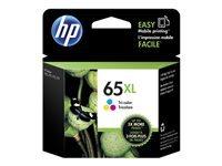 HP 65XL - High Yield - dye-based tricolor - original - blister - ink cartridge - for Deskjet 3720, 3721, 3722, 3723, 3733, 3752, 3755, 3758