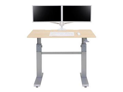 Ergotron WorkFit-DL - Stůl k sezení/stání - mobilní - kancelář - hranatý - javor