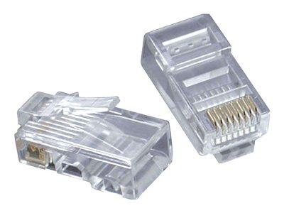 C2G RJ45 Cat5E Modular Plug for Flat Stranded Cable - Síťový konektor - RJ-45 (M) - CAT 5e (balení 50)