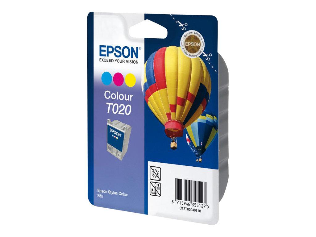 Epson T020 - couleur (cyan, magenta, jaune) - originale - cartouche d'encre