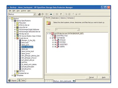HP Data Protector Advanced Backup to Disk