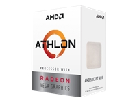 AMD Athlon 200GE 3.2 GHz 2 cores 4 tråde 4 MB cache Socket AM4 Box
