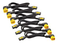 APC Power Cord Kit (6 ea), Locking, C13 to C14 (90 Degree), 1.8m - AP8706R-WW
