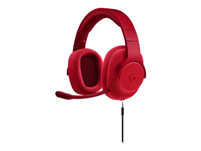 Logitech Gaming Headset G433 - Headset - 7.1 channel - full size - wired - red
