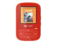 SanDisk Clip Sport Plus Digital afspiller 16 GB rød