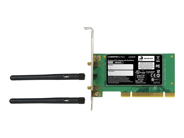 Image of Linksys Wireless-N PCI Adapter - network adapter