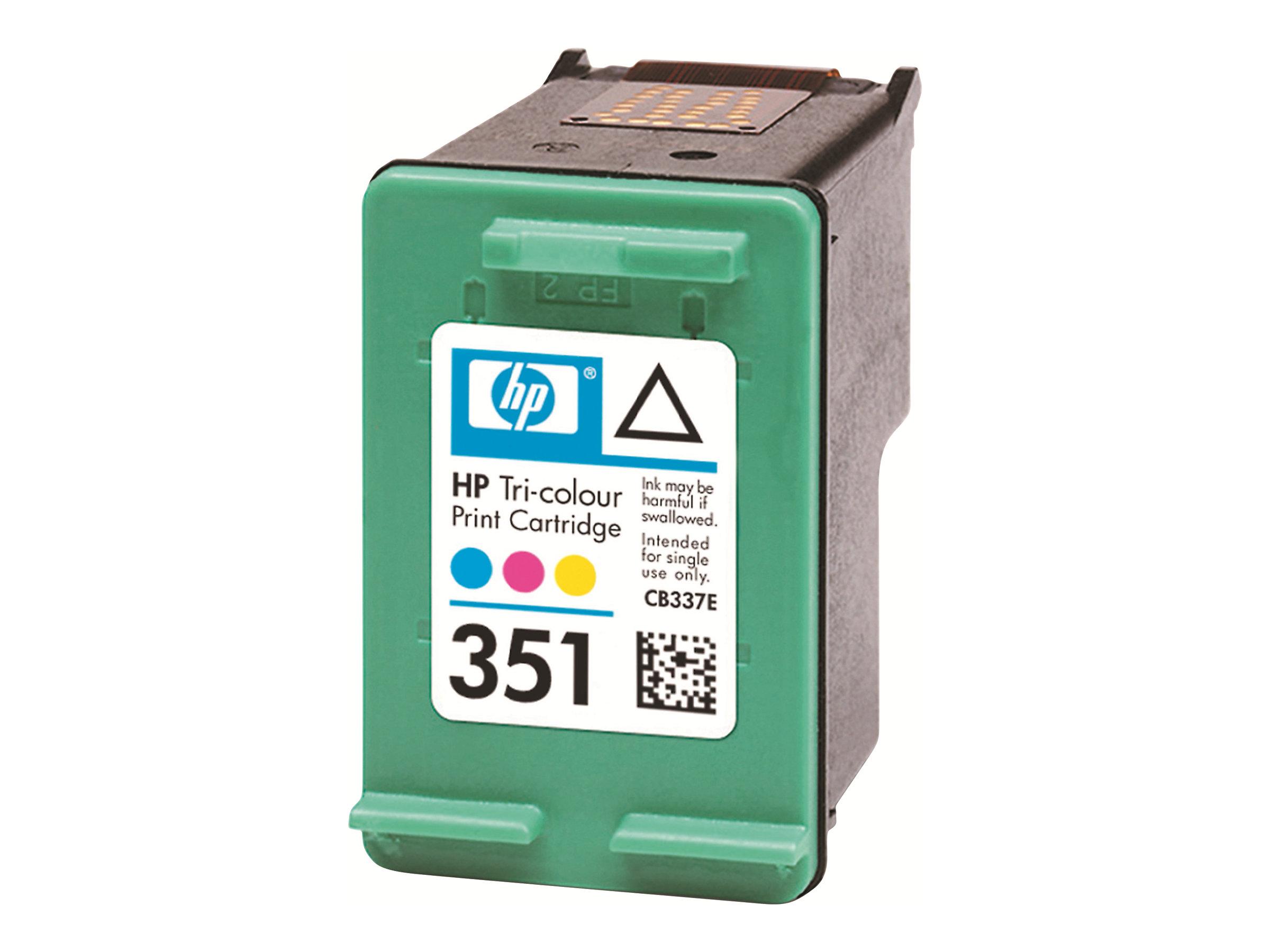 HP 351 - couleur (cyan, magenta, jaune) - originale - cartouche d'encre