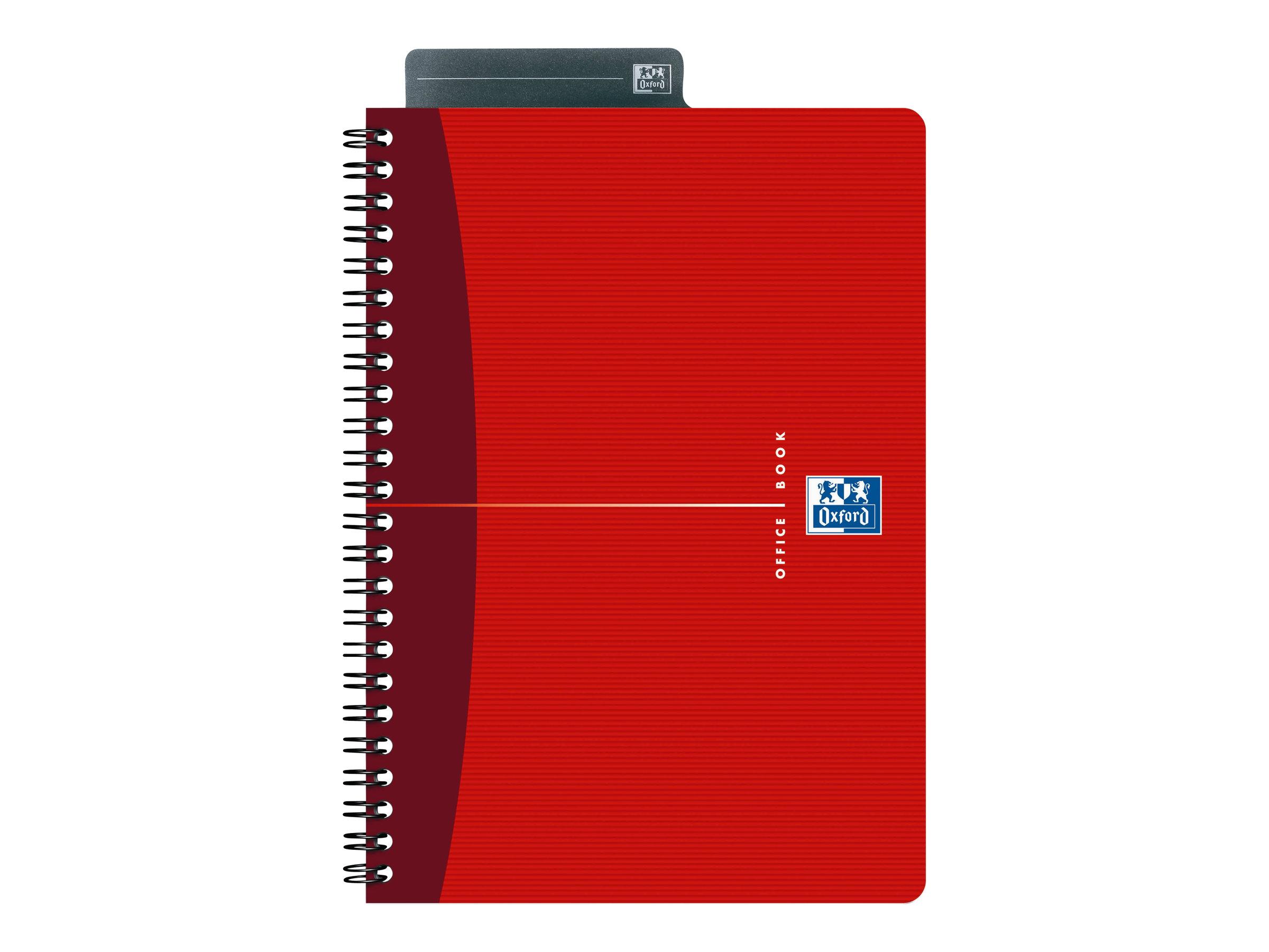 Oxford Office Essentials - Cahier - A5 - 90 feuilles - ligné - disponible dans différentes couleurs