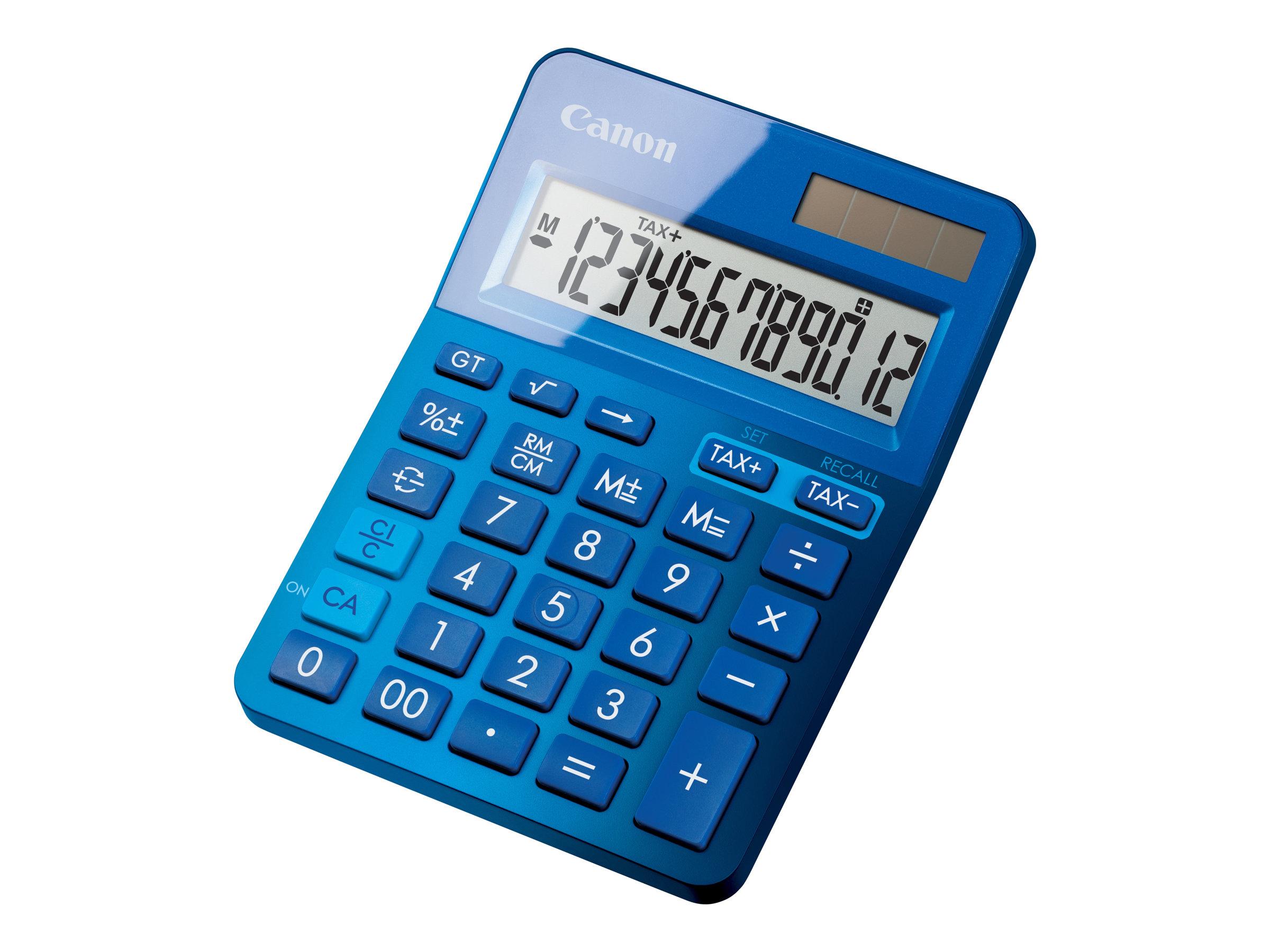 Canon LS- 123K - Calculatrice de bureau - 12 chiffres - différentes couleurs disponibles